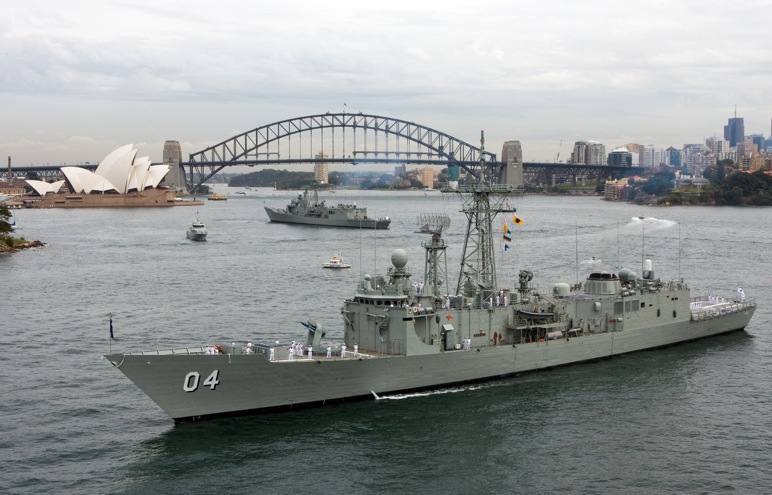 HMAS Darwin In Sydney Harbour